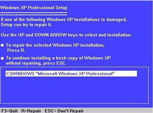 как откатить систему назад windows xp