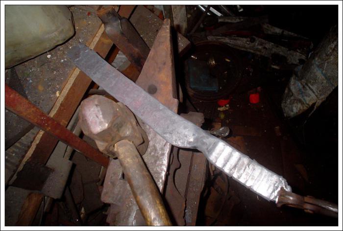 Как из троса выковать нож