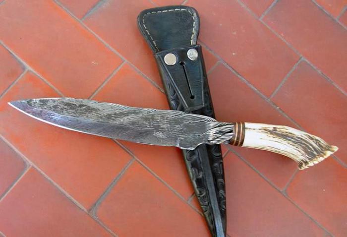 Нож из троса фото