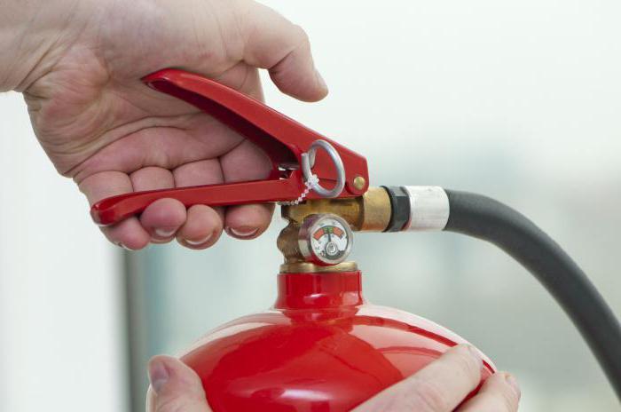 первичные средства пожаротушения и правила пользования ими в РФ