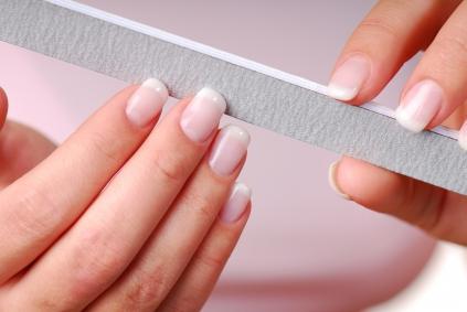 как пилить квадратные ногти