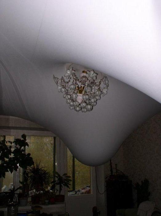 затопление потолка
