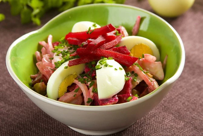 Egg and Beetroot Salad
