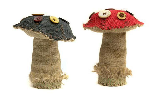 детские поделки грибы