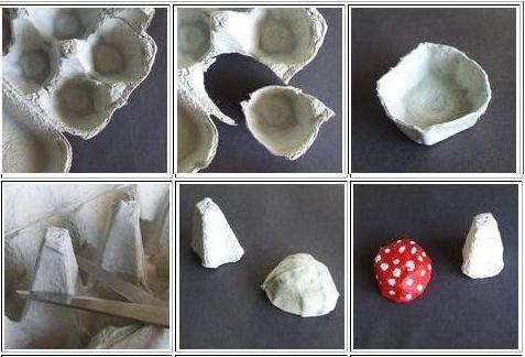 поделка гриб своими руками для сада