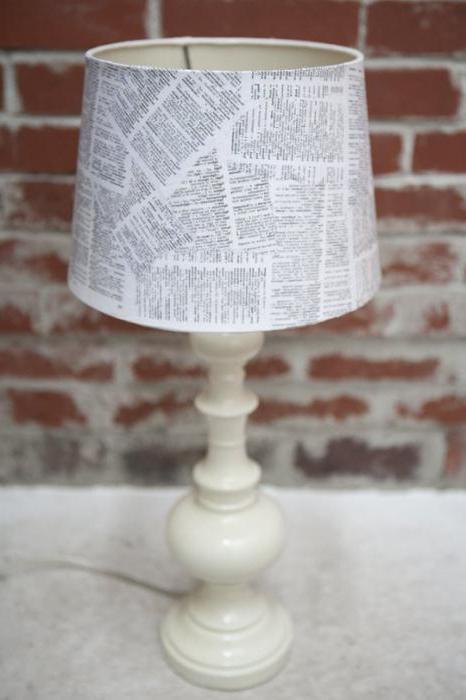 абажур для настольной лампы своими руками