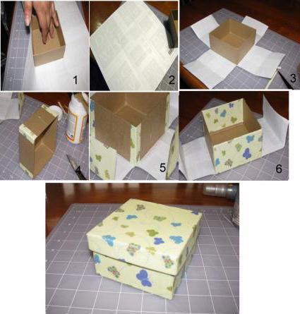 как красиво обклеить коробку бумагой