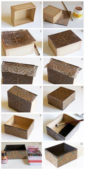 как правильно обклеить коробку бумагой