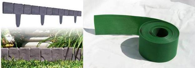 ограждения для грядок из пластиковых панелей