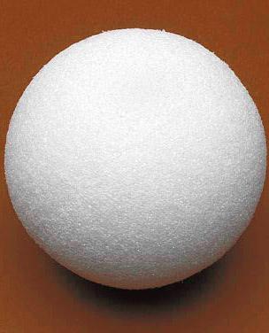 как из пенопласта сделать шар