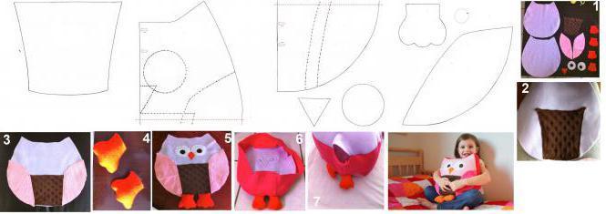 выкройки мягких игрушек подушек