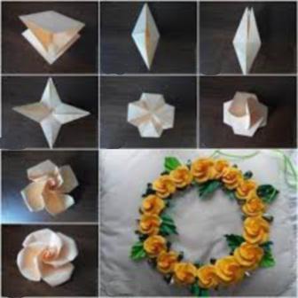 как сделать розу оригами схема