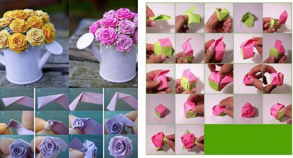 Как сделать розу из бумаги с описанием