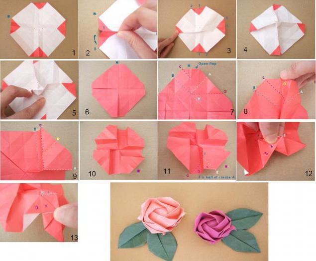 Как сделать розу из оригами поэтапно фото