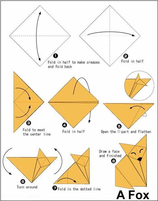 поделки из бумаги оригами животные