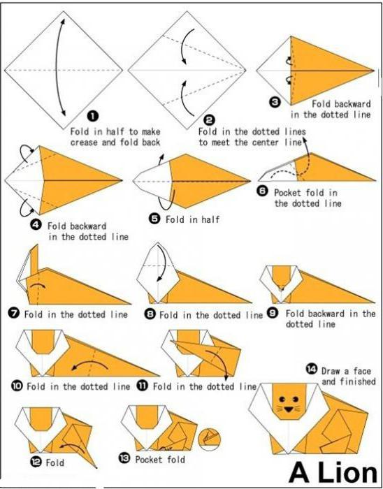 оригами животные из бумаги схемы