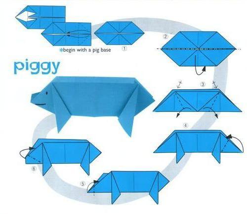 оригами из бумаги животные