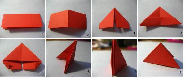 модульное оригами сборка корзинки