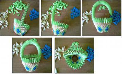 модульное оригами схемы корзинка