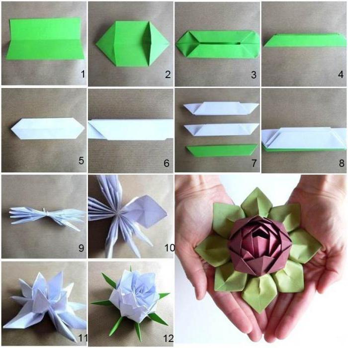Цветок простой из бумаги своими руками пошаговое фото 54