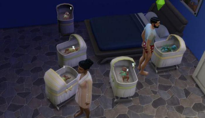 как в симс 4 родить двойню