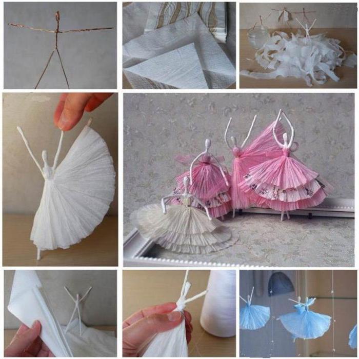 Как сделать балерин из салфеток 881