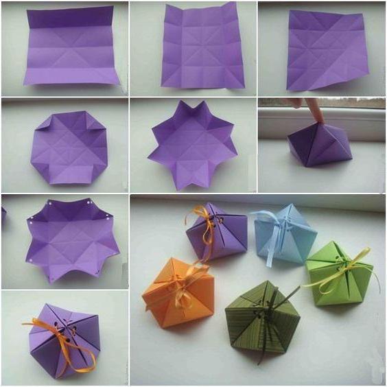 оригами коробка из бумаги