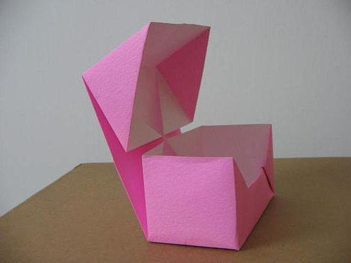 как сделать коробку оригами