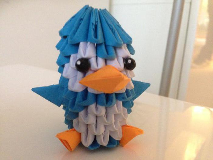 пингвин оригами из бумаги