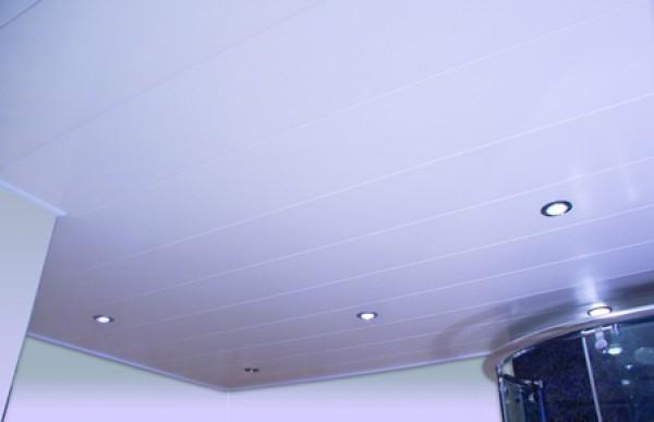 пластиковый потолок в туалете