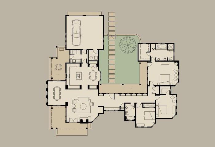 планировка американских одноэтажных домов