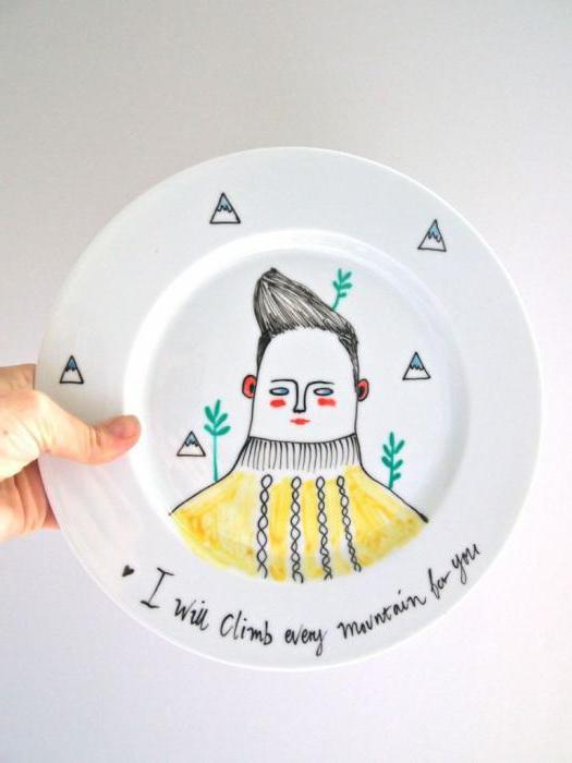декоративные тарелки росписью