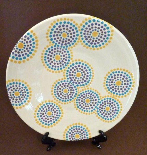 точечная роспись тарелок