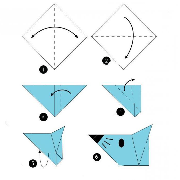 как сделать мышку из бумаги своими руками