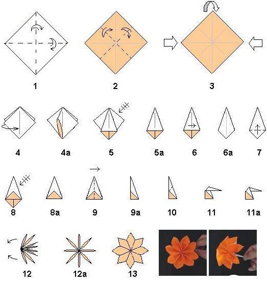 оригами 8 марта своими руками