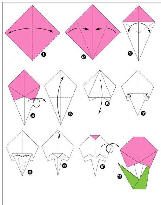 оригами на 8 марта своими руками