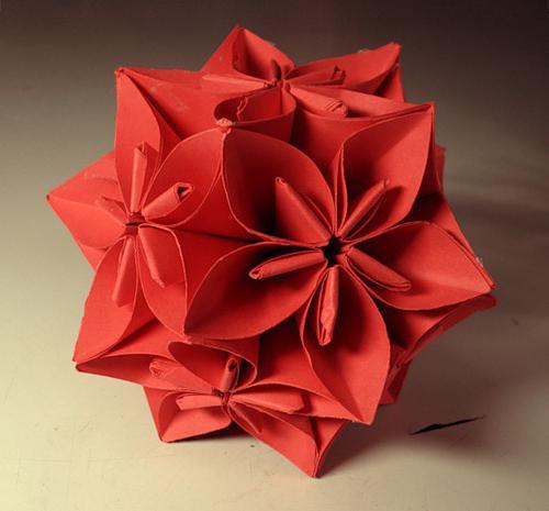 оригами из бумаги шарик