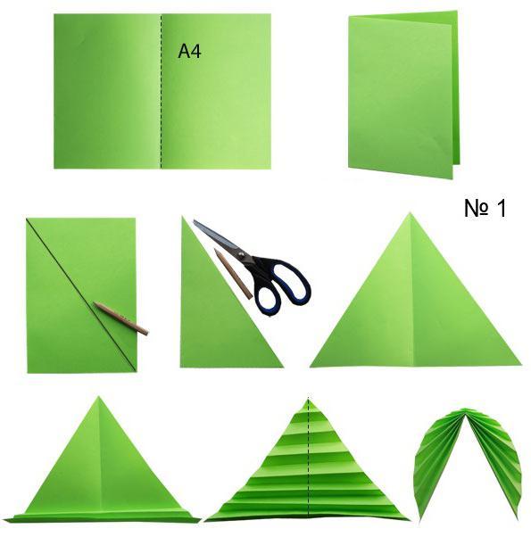 Как сделать гармошку из листа бумаги