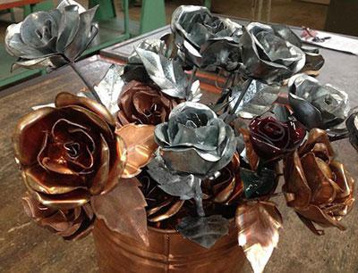 роза из металла своими руками схема