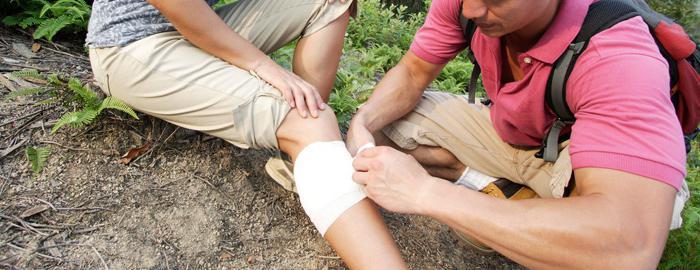 первая помощь при вывихах и растяжении связок