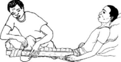 первая доврачебная помощь при растяжении связок