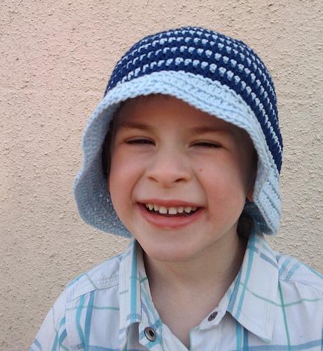 вязание крючком шапки для детей