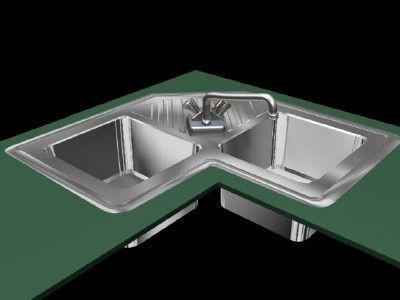 fregadero de esquina para el tamaño de la cocina