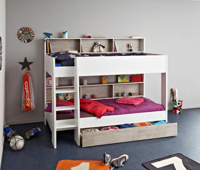 детские двухъярусные кровати фото размеры