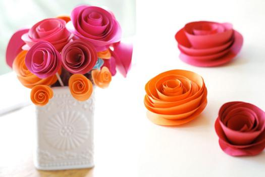 оригами букет цветов из бумаги