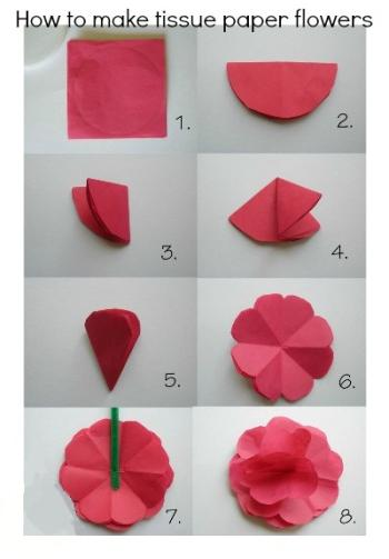 Как сделать из бумаги розу без ножниц и клея
