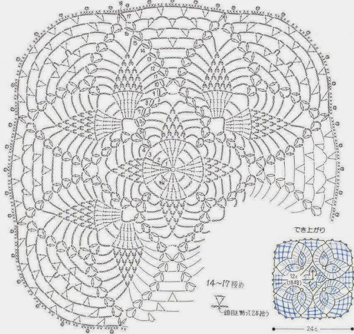 квадратные салфетки крючком схемы подробно