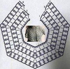 пелерина крючком со схемами