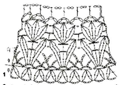 вязание крючком кокетка схема
