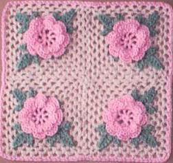 филейное вязание крючком схемы розы